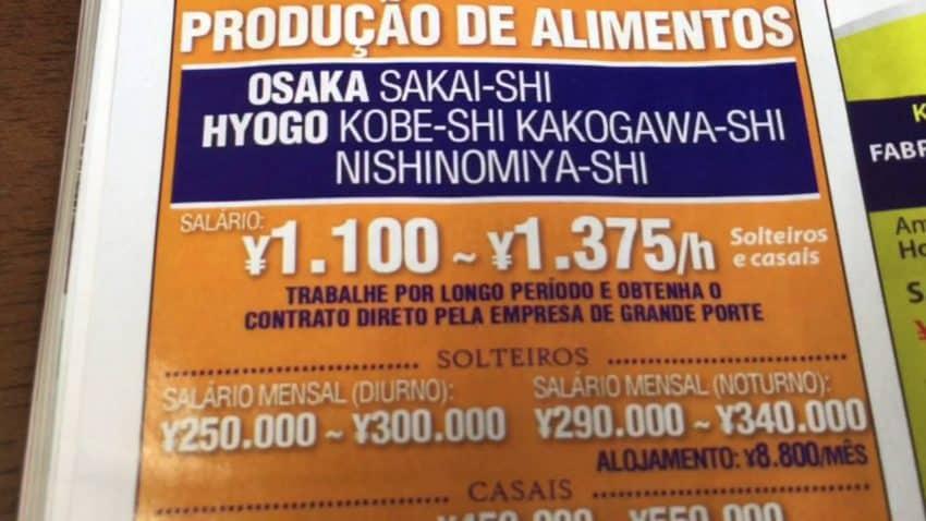 Empregos no Japão apenas para nissei